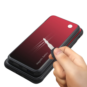 Image 5 - Slim Gradient Tempered glass Magnetic Wireless charger Case For Samsung Galaxy S8 S9 Plus Power Bank Battery Charging Case Cover