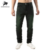 Men Clothes 2019 Fashion Trend hiphop Jeans Men Casual High Elasticity Skinny Jeans Men Grey Green Ripped Jeans for Men