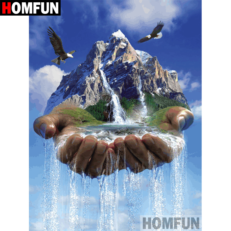 Hospitable Homfun Full Square/round Drill 5d Diy Diamond Painting hand Waterfall Embroidery Cross Stitch 5d Home Decor Gift A07812 Arts,crafts & Sewing