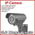 Venda quente da Bala Câmera IP Outdoor 1920 P Waterproof IP66 Rede 5.0MP HD CCTV Camera P2P Plug Jogue varifocal 2.8-lente de 12mm