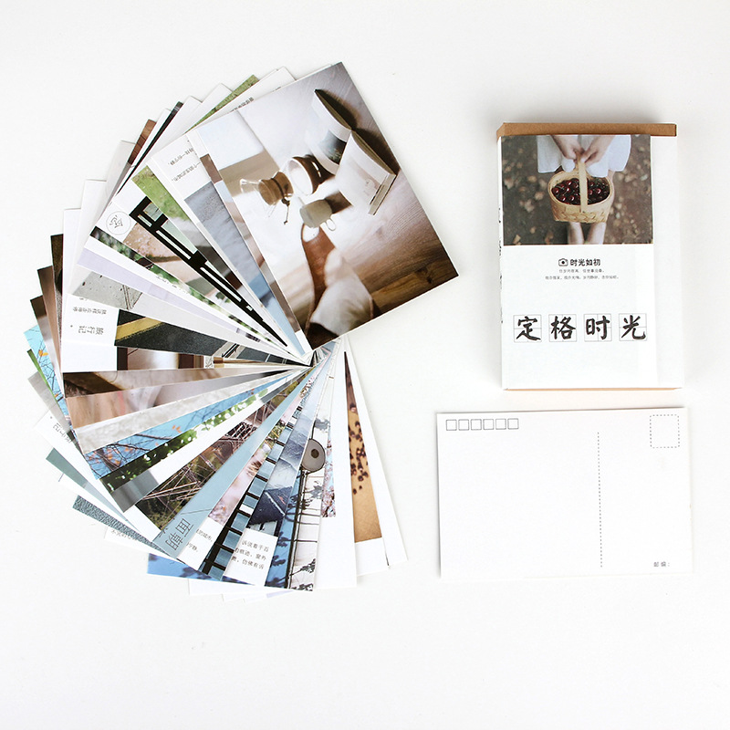30 Pcs/Set Creative Freeze Time Postcard/Greeting Card/Message Card/Birthday Letter Envelope Gift Card Two Sizes