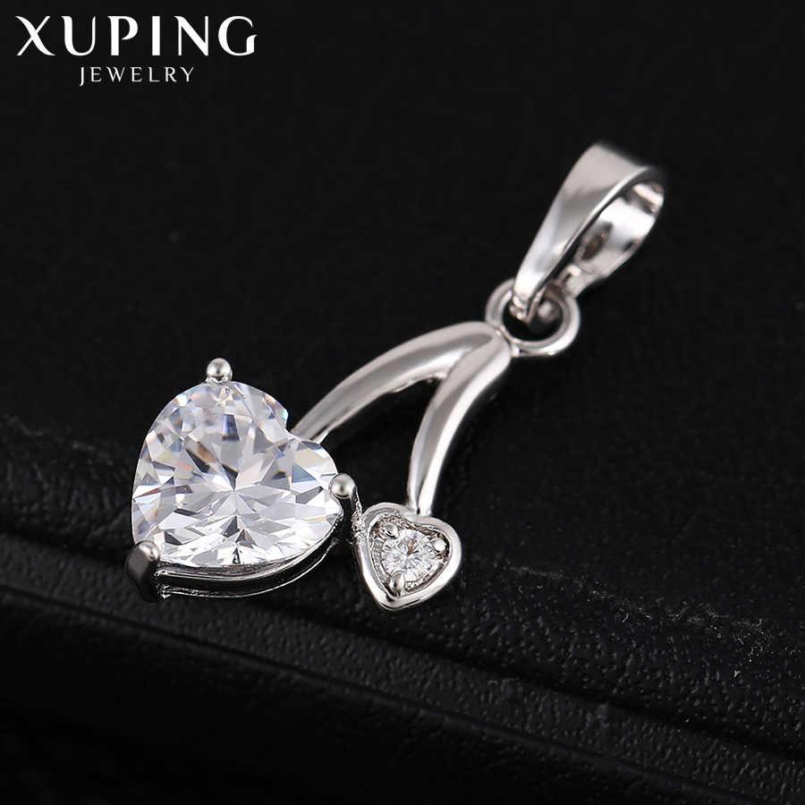 Xuping Fashion Sederhana Gaya Hati Liontin Kualitas Tinggi Pesona Desain Perhiasan Berlapis Hadiah Natal S55.1-32857