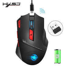 HXSJ new wireless 2.4G gaming mouse wireless mouse 7 key macro definition 4800 adjustable DPI office PC notebook mice