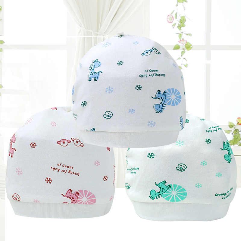Patrón de dibujos animados sombreros de bebé suave cómodo Algodón elástico gorros Invierno Caliente niña niño infantil niños lindo sombrero