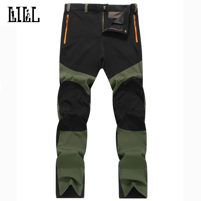 Militær stil Elatiske bukser Åndbar mænds sommer Tynde trusser Bukser Mænd Army Løse Hurtige, tørre bukser 4XL Cargo Pant, UA109