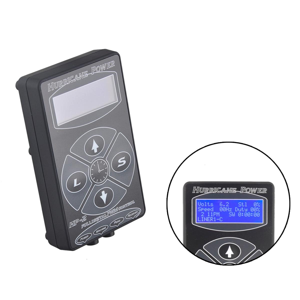 HP-2 Poder Tatuagem de Alimentação Digital Display LCD Preto/Prata/Branco Para Kits Máquina