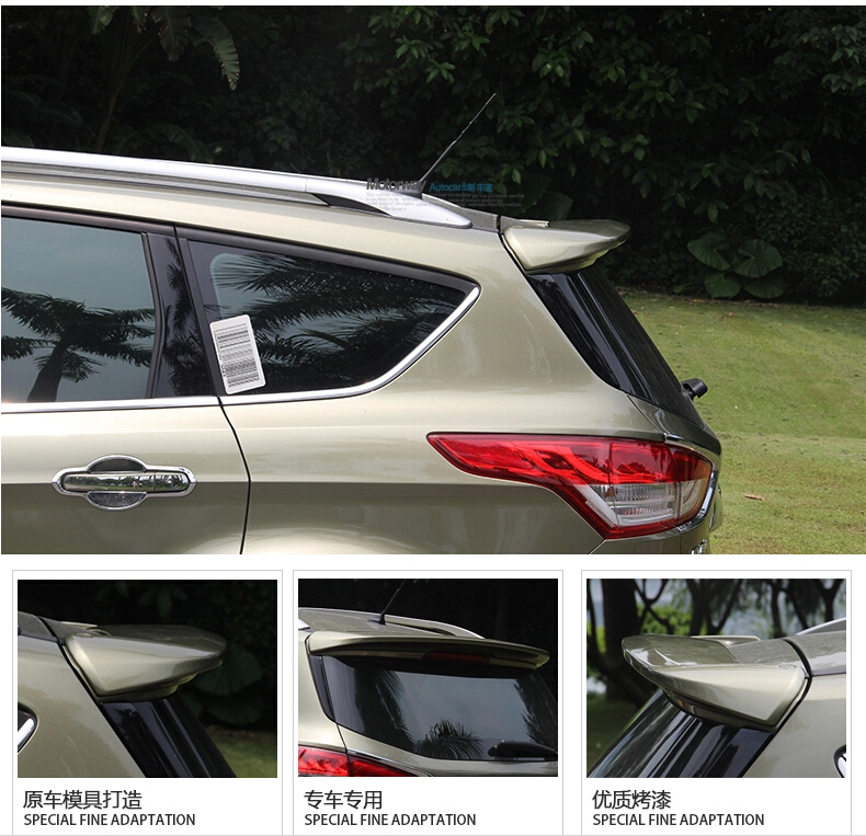 NEW High Quality! Car COLOR PAINT Rear Trunk Spoiler Wing Spoiler Rear Diffuser (1PCS) For Ford Kuga 2013-2014 Shipping car rear trunk security shield cargo cover for ford escare kuga 2016 2017 high qualit black beige auto accessories