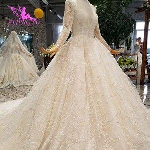 Image 5 - AIJINGYU לבן טול שמלות רשמיות כדור הודו מעצב סאטן החדש שמלת צבע חתונה שמלת שינויים