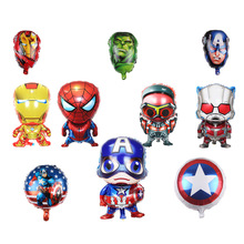 The Avengers Foil Inflatable Balloons Baby Shower Boys Spiderman Balloon Party Supplies Birthday Party Decoration Kids spiderman birthday party supplies tableware plate cup napkin balloons baby shower party spiderman party decoration for kids