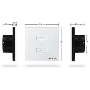 Image 5 - FUNRY EU/UK มาตรฐานรีโมทคอนโทรล switch 2 gang 1 way pancel หน้าจอ touch สวิทช์สมาร์ทสวิตช์ EU RF 433 mhz AC170V 240V