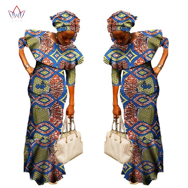 2018 Summer african dresses for women new Design dashiki women bazin riche  cotton casual dress plus c6e8a25ec196