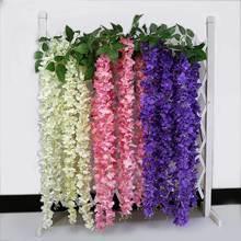 10 Pcs Rattan Strip Wisteria Artificial Flower Vine For Wedding DIY Craft Home P