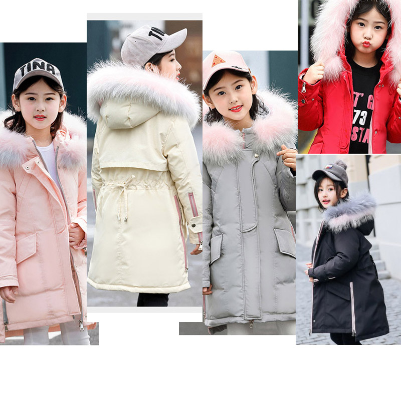 2018 new childrens long down jacket winter girls thick coat2018 new childrens long down jacket winter girls thick coat
