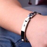 Power Ionics Titanium Power Healing Crystal Magnetic Bracelet Wristband Energy Body /w Box
