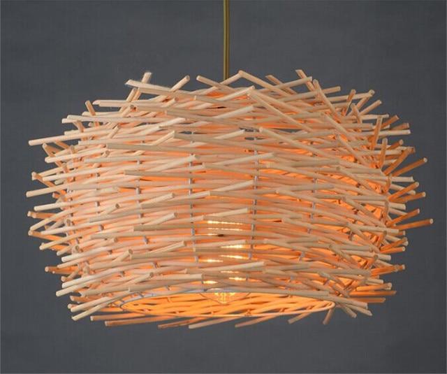 Mini Globe Metal Bamboo Pendant Light Chopsticks Hanging Lamp Handmade Art  Deco For Kitchen Island Living