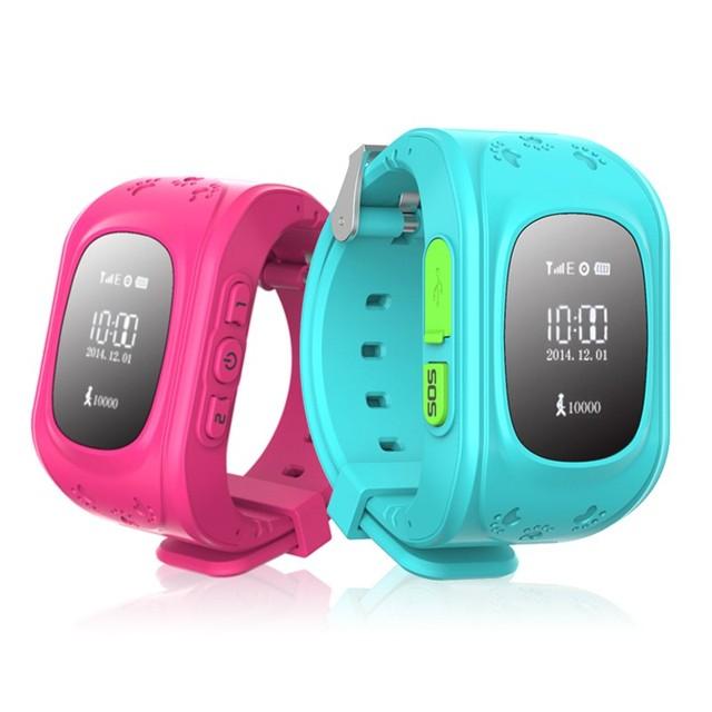 2017 Anti Perdido Q50 OLED GPS Criança Rastreador SOS Inteligente Telefone Crianças GPS Relógio de monitoramento de Posicionamento Compatível com IOS e Android