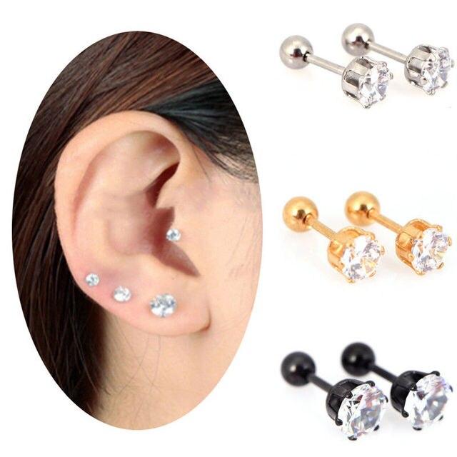 c607f8c4c Medical titanium Earring ear Piercing DIY Top Body Jewelry steel zircon  earrings Size 3/4/5/6mm Star Crystal Cartilage-in Stud Earrings from  Jewelry ...
