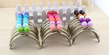 Darmowa wysyłka 10 sztuk partia pół okrągły 10 5 CM duży koralik cukierki koralik brązu piękny zagesccie torebka metalowa rama pocałunek zapięcie tanie tanio Uchwyt kk12 KISSDIY