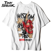 Men Ghost T Shirt Hip Hop Letter Print Devil Wisdom Mens 100 Cotton T-Shirt Harajuku Black Teen Clothing Brand Urban Streetwear