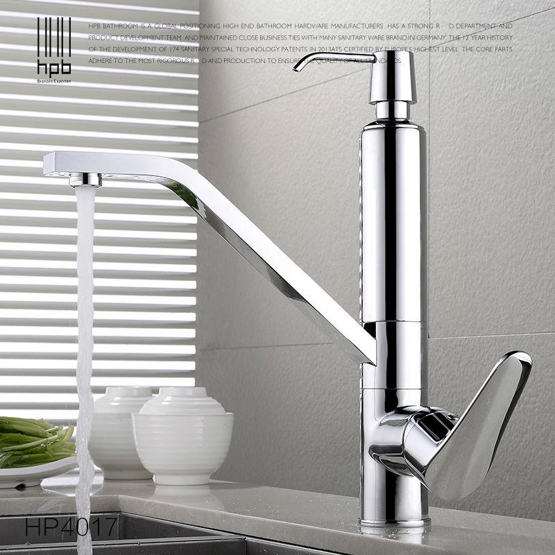 HPB Brass Kitchen Faucet Mixer Tap Deck Mounted Sink Hot and Cold Water Torneira de Cozinha