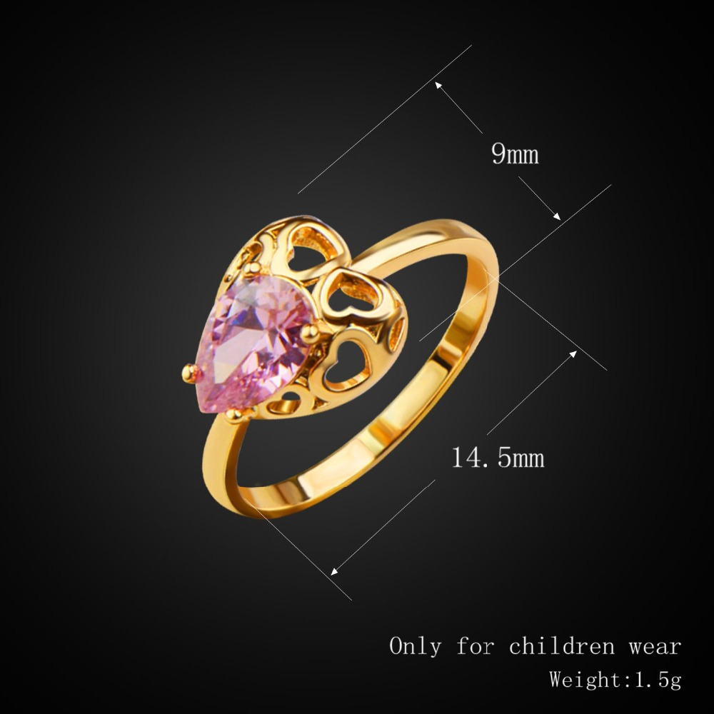 New Fashion Heart Crystal Necklace/Earring/Bangle/Ring Set Gold ...