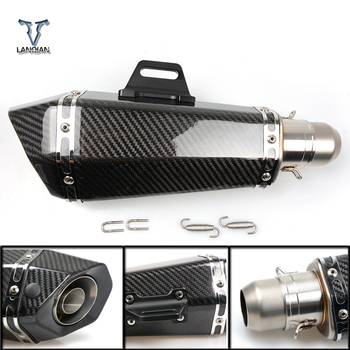 36-51mm Universal CNC Motorcycle Exhaust Pipe With Muffler For Honda cbf 1000 cbf1000 cbf1000a cbr600f cbf600 cbf600 sa