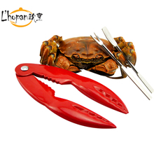 FREE SHIPPING Seafood Tools/Crab Eating Tools/Red Seafood Cracker with stainless steel pickers/Red Lobster Shape Seafood Set