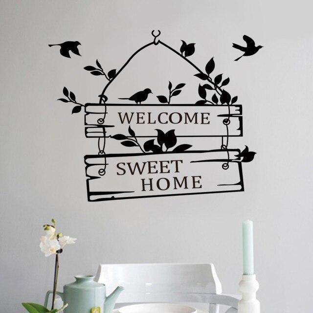 8253 Welcome To My Sweet Home Vinyl Wall Stickers Window Door Sticker Home Decor Store