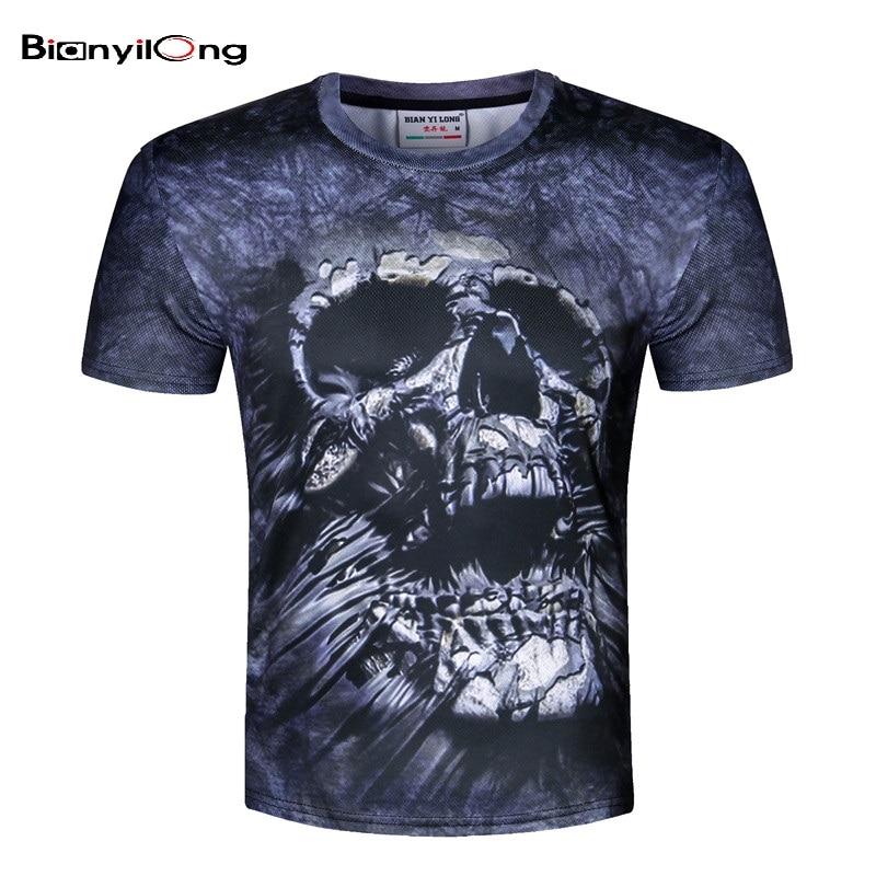 Bianyilong fashion brand t shirt male hip hop 3d print for Shirts to print on