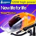 Portable car  vacuum cleaner wet and dry dual purpose 120W POWER MINI hand-held high efficiency vacuum cleaner aspiradora 12v