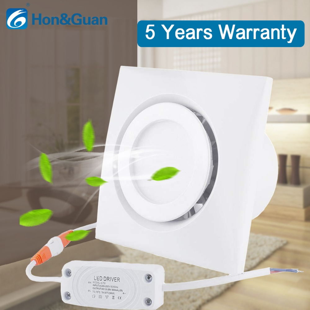 4 inch Home Ventilation Fan Bathroom Exhaust Fan Ceiling, Window and Wall Mount Fan, Built in 4W LED Light with Led Driver-in Exhaust Fans from Home Appliances    1