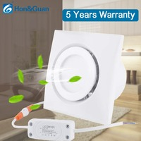 4 inch Home Ventilation Fan Bathroom Exhaust Fan Ceiling, Window and Wall Mount Fan, Built in 4W LED Light with Led Driver