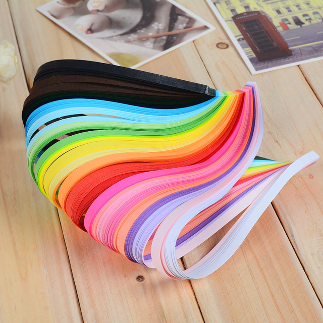 Origami Craft Paper 260pcs 3mm/5mm/7mm/10mm 26 Colors Paper Quilling Paper DIY Decoration Pressure Relief Gift
