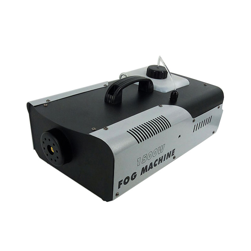 SHEHDS 1500W Smoke Machine DMX512 LED Fog Machine Pyro Vertical Fogger Machine Remote Or Wire Control Stage Fog Machine