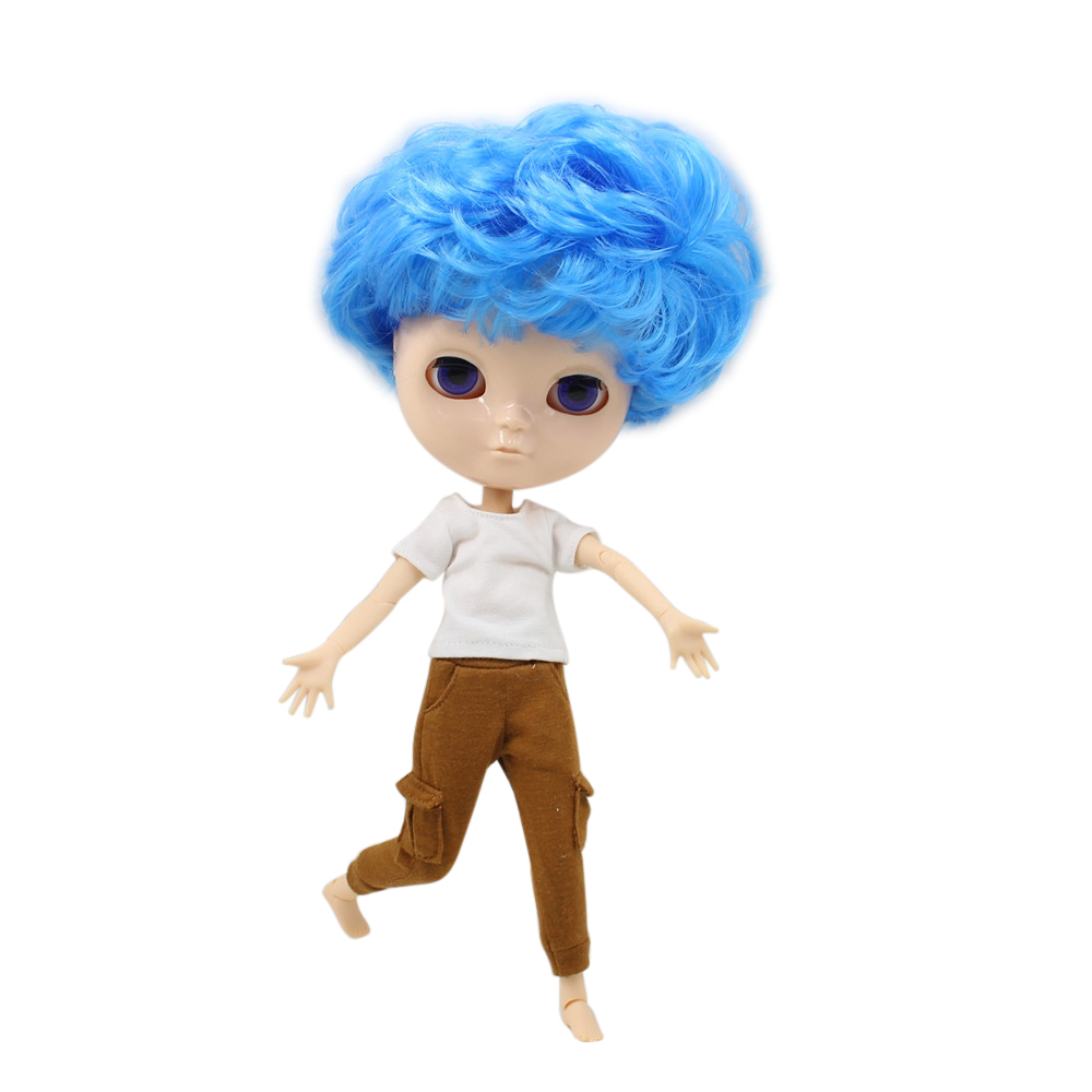 Free shipping fortune days 1/6 ICY DOLL boy joint body blue curly hair 1/6 bjd neo toy gift without makeup face free shipping face makeup