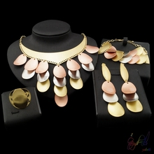 Yulaili Free Shipping Fashion Design Pure Rose Silver Gold Color Anniversary Jewelry Set Party Four Jewelry Sets недорого