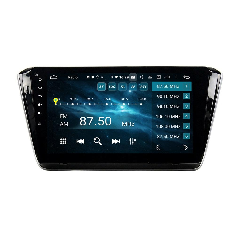 DSP 1 din Android 9.0 Octa Core 10.1 Car Radio DVD GPS for Skoda Superb 2015-2019 4GB RAM Bluetooth 4.2 WIFI USB DVR 32GB ROM image
