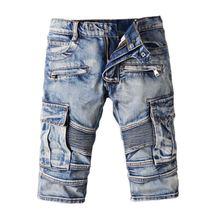 2016 new arrival summer men's casual Denim shorts, men's Knee Length shorts,men's jeans plus-size 28-40