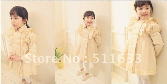 new arrival fashion girl dust coat design lace girls coat and overcoat for baby spring autumn winter wear 35pcs/lot +wholesale