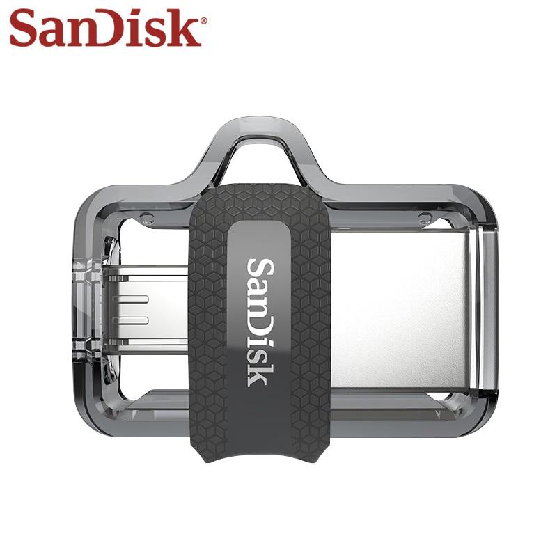 Sandisk Pendrive OTG Micro Usb 32 gb Disco U DUAL DRIVE 16 gb USB Flash Drive 128 gb Memory Stick USB 3.1 gb 64 Alta Qualidade