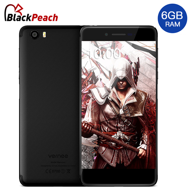 Vernee Mars Pro 4G Mobile Phone 5.5 inch 1920x1080 MTK6757CH Octa Core Android 7.0 6GB RAM 64GB ROM 13MP Fingerprint Cellphone