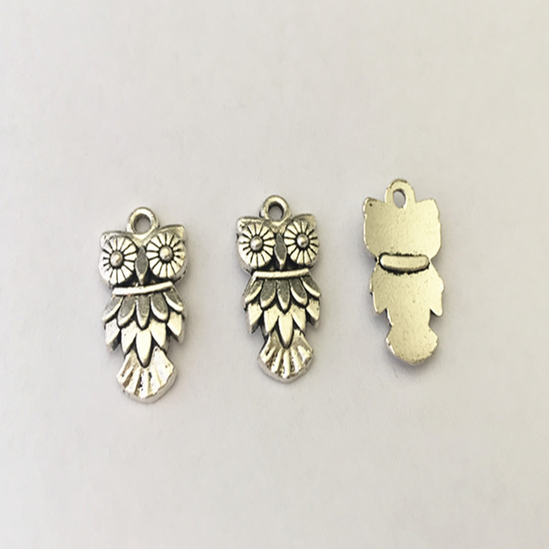 Hearty 10pcs/lot Antique Silver Owl Pendant Charms Necklace Pendant Mini Pendant Connector Charms Accessories 11mmx26mm Jewelry Sets & More