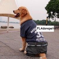 بارد شتاء كبير كلب كبير الملابس هوديي بذلة دافئ الصوف الذهبي المسترد بيتبول الكلب سترة معطف الملابس لل كلب