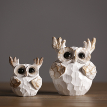 Retro and Nostalgic Owl figurines Resin Crafts Creative Nordic home  decor fairy garden miniatures Animal Arts wedding gifts