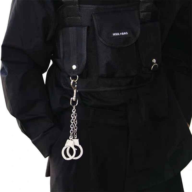 Уличный большой брелок для ключей в стиле панк рок, брюки, хипстерские брелки, пояс для брюк, джинсовый брелок в стиле хип-хоп, аксессуары для Kpop LZ05