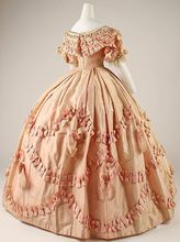 from the Met Museum and dates to around 1861 Medieval Clothing Victorian dress satin dress