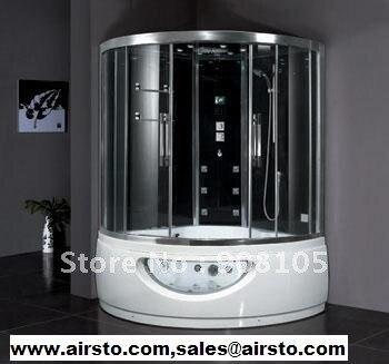 Роскошные закаленное стекло задней панели раздвижные двери ходить в массажные ванны объединить сауна и ванной душевая кабина CE ETL