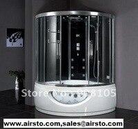 Роскошные закаленные стеклянные задние панели раздвижные двери ходьба в массажных ваннах совмещают сауну и ванная ширма кабина CE ETL
