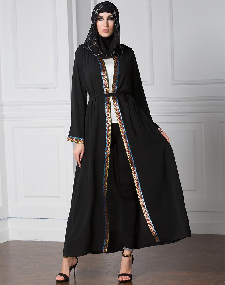 Arabic Dress 2017 Abayas Cardigan For Women Muslim Dress -8383