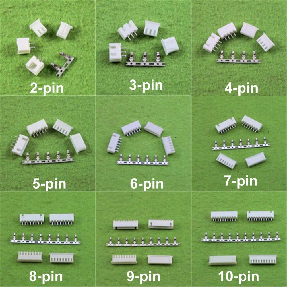 50 ensembles Micror Min XH 2.54mm 2.0mm 2 p 3 p 4/5/6/7/8/9/10 p Femelle et Mâle PCB Connecteur + Sertissages THT Connecteur
